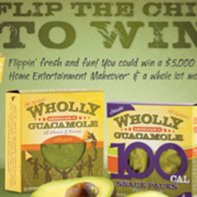 """New"" Wholly Guacamole ""Flip The Chip"" Instant Win Game & Sweepstakes"