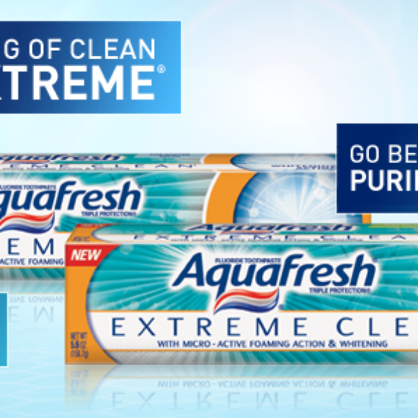 Free Sample Aquafresh Extreme Clean