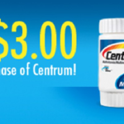 Save $3.00 on Centrum (Facebook)