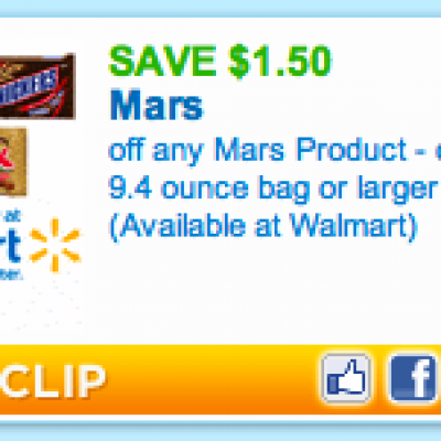 Mars Candy Product Coupon