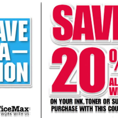 20% Off Ink, Toner & Supplies at OfficeMax: 10/16/11 - 10/22/11