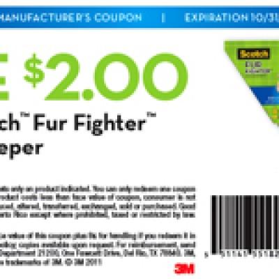$2/1 Scotch Pet Hair Sweeper