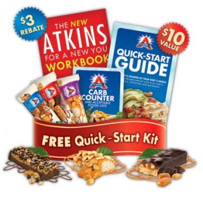 3 Free Atkins Bars, Quick-Start Kit and Recipe Book