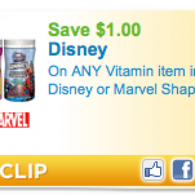 Disney Or Marvel Shaped Vitamin Coupon