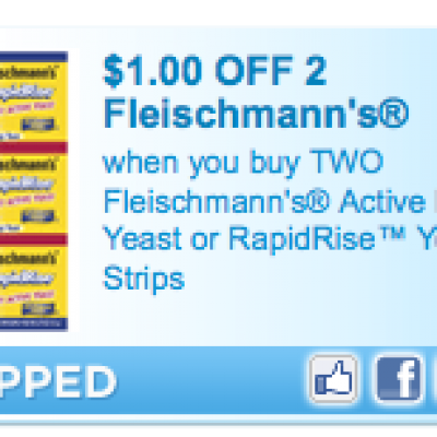 """""""New Today"""" Fleischmann's Dry Yeast Coupon"""