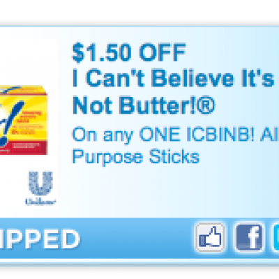 Exclusive! I Can't Believe It's Not Butter! Coupon