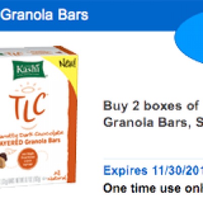 Save $1.50 on Kashi TLC Granola Bars