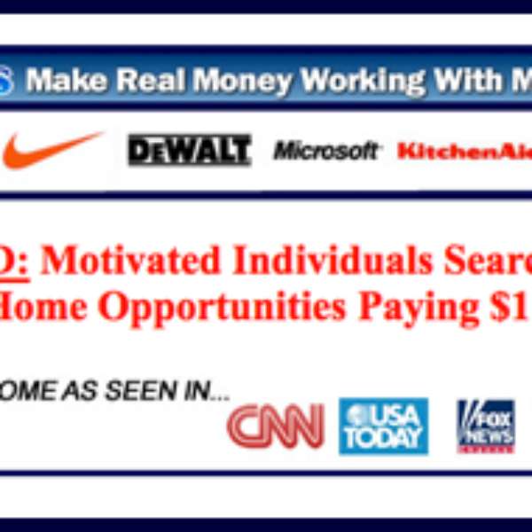 Wanted: Motivated Individuals To Work For Major Companies