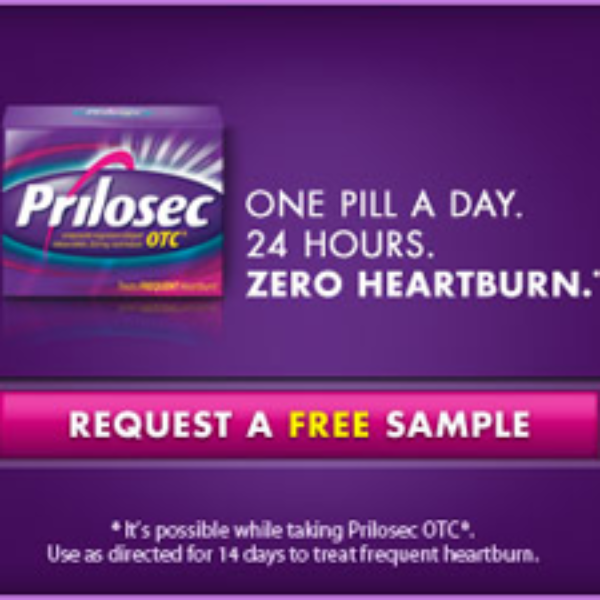 Get Heartburn Relief With Free Sample of Prilosec