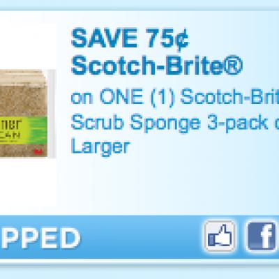 Scotch-Brite Scrub Sponge Coupon