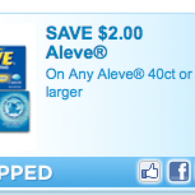 High Value Aleve Coupon