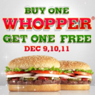 Burger King BOGO Whopper!