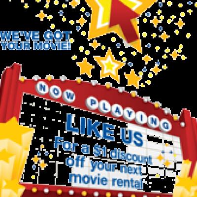 Blockbuster Express: $1.00 Off Movie Rentals