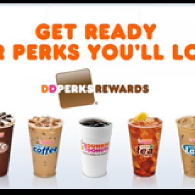 Dunkin Donuts Perks Rewards: Free Medium Beverage