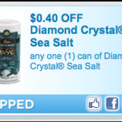 Save $0.40 Diamond Crystal Sea Salt