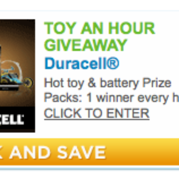 Duracell: Free Toy An Hour Giveaway
