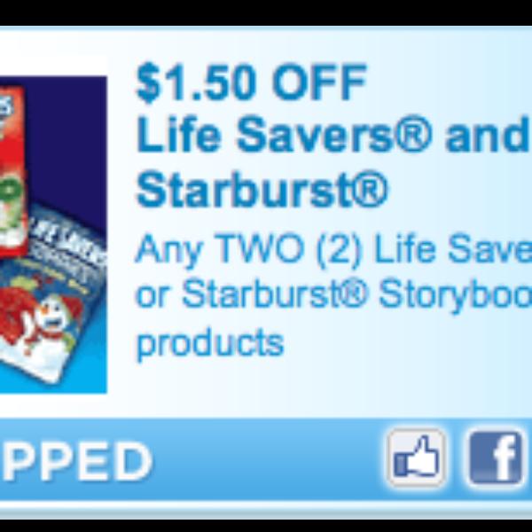 LifeSaver & Starburst Coupon