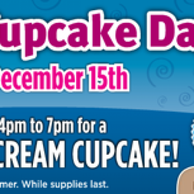 Free Ice Cream Cupcakes at Marble Slab