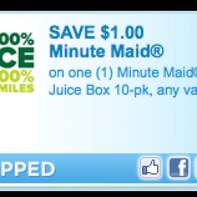 Save $1.00 on Minute Maid