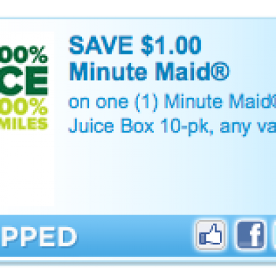 Save $1.00 on Minute Maid