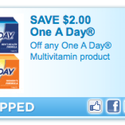 Free One-A-Day Vitamins After Coupon