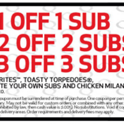 Quiznos: Save up to $3