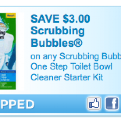 Scrubbing Bubbles One Step Toilet Kit Coupon
