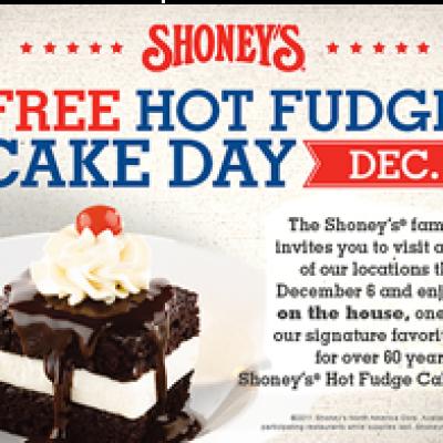 Free Hot Fudge Cake Day @ Shoney's