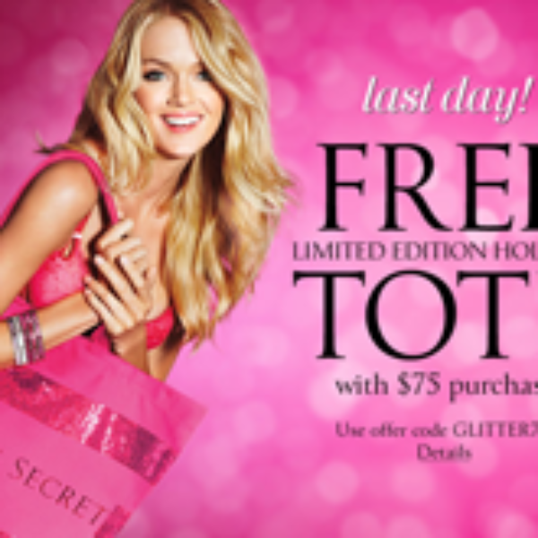 Victoria Secrets: Free Limited Edition Holiday Tote