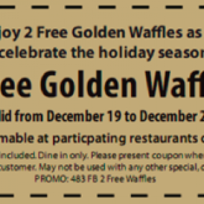 Huddle House Free Waffle Coupon