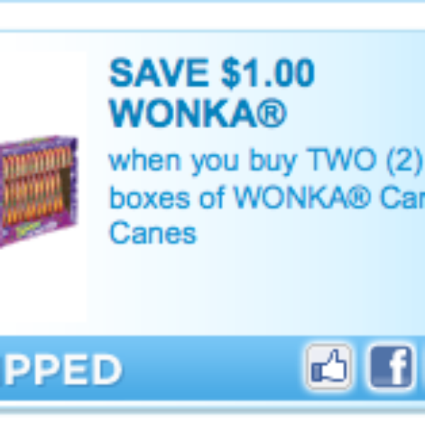 Willy Wonka Candy Cane Coupons