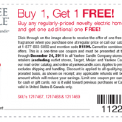Yankee Candle: Buy 1, Get 1 Free