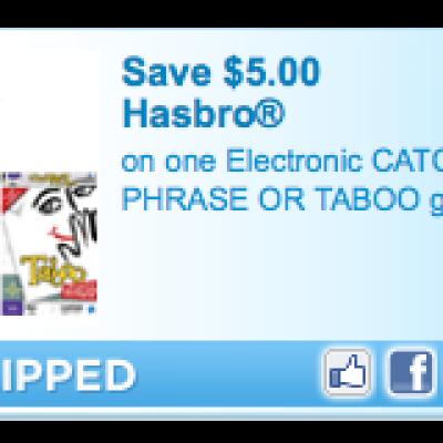 Hasboro Game Coupon