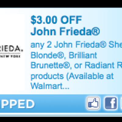 John Frieda Sheer Blonde/Brunette/Radiant Red Coupon