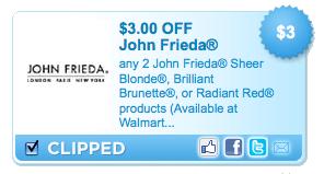 photograph about John Frieda Coupons Printable identify Printable coupon john frieda - Boundary bogs specials