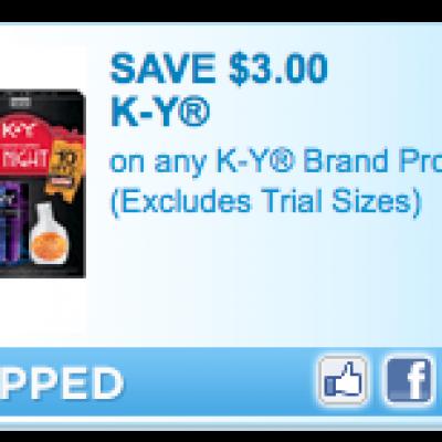 Free K-Y jelly at Walmart