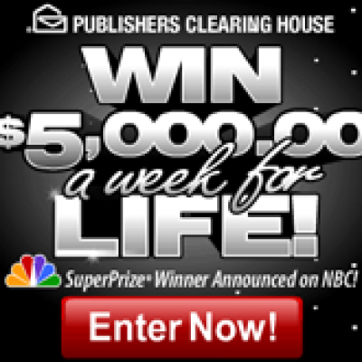 PCH Win $5000 a Week for Life!