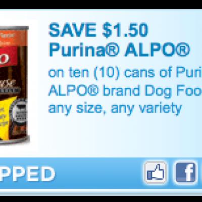 Purina Alpo Dog Food Coupon