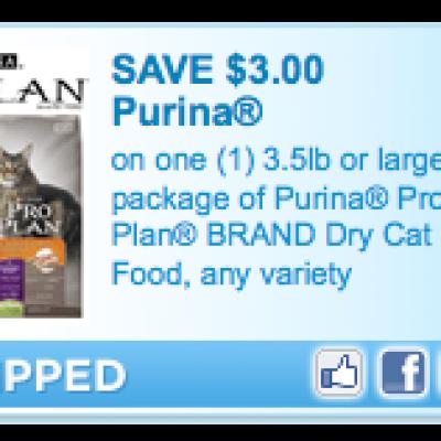 Purina Pro Plan Dry Cat Food Coupon