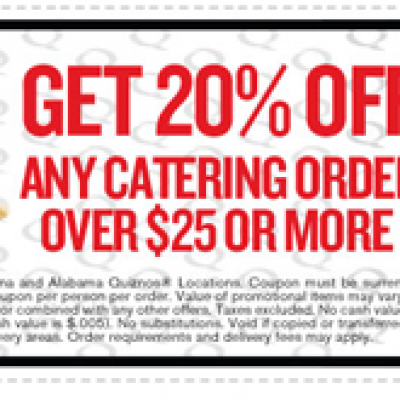 Quiznos Catering Coupon