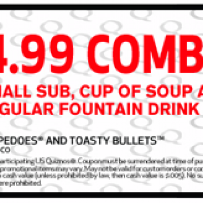 Quiznos $4.99 Combo Coupon