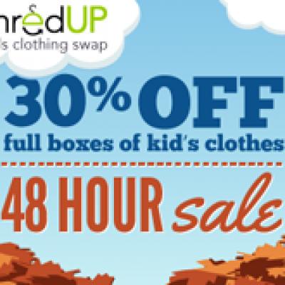 thredUP 30% off Sale