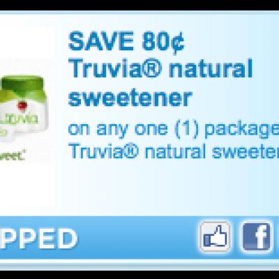 Truvia Natural Sweetener Coupon