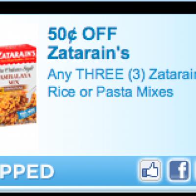 Zatarain's Rice or Pasta Mixes Coupon