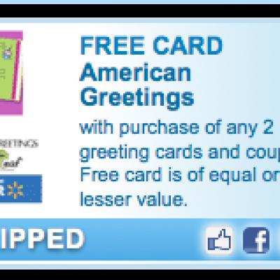 Free American Greetings Card Coupon