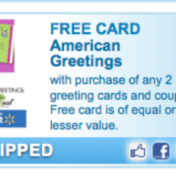 Free American Greetings Card Coupon
