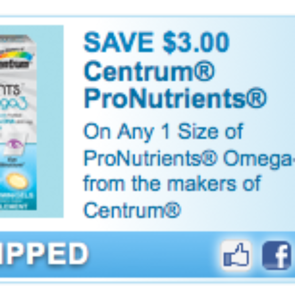 Centrum Omega-3 Coupon
