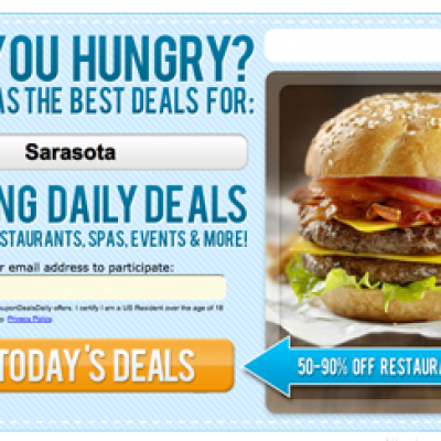 Are You Hungry? Get Amazing Restaurant Deals 50-90% Off