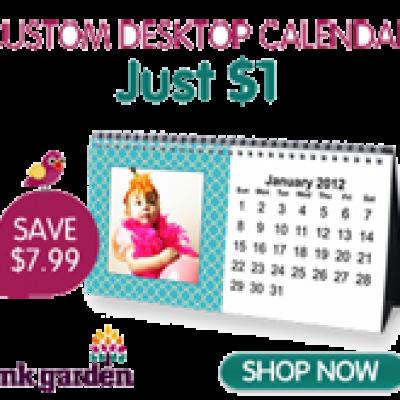 Get A Custom Desk Calendar for $1.00