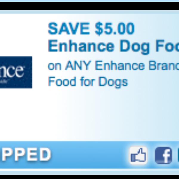 Enhance Dog Food Coupon